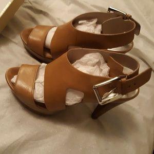 Michael's Kors Carla Leather Platform Block Heels